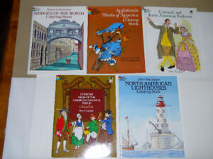 Lot of Five DOVER Books in Near MINT Condition