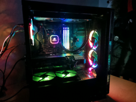 High End Gaming PC with Monitor and Accessories