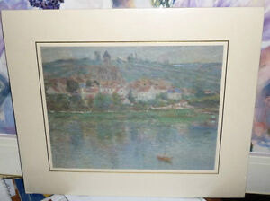 "Claude Monet ""Vetheuil"" Painted 1901 Textured Art Print Stratford Kitchener Area image 1"