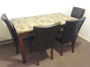 Dining table and sofabed