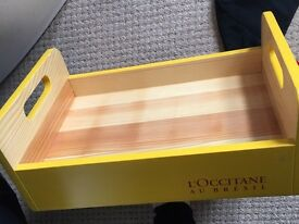 Wooden box trays x4