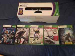 Kinect 360 and 5 games for sale 65$