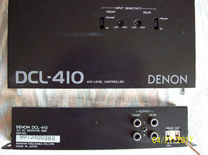 Denon DCL-410 4CH Level Controller & 12V DC Negative GND