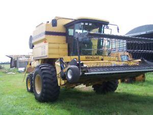 TR 98 New Holland  ,220 Massey ,742 Co-op C/w 26'&42' header