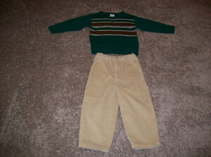 Boys Cords And Sweater Size 4