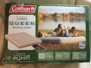 Coleman Quickbed Queen, Single High -Never Used!Still in box!
