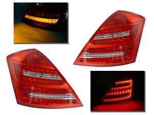 DEPO Facelift Look Red/Clear LED Tail Light For 07-09 Mercedes Benz W221 S Class