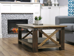 Rustic Coffee Table - new (breadboard top)(cedar)