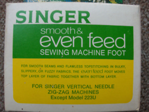 Singer Even Feed Sewing Machine Foot