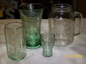 4 Coca Cola Embossed glasses