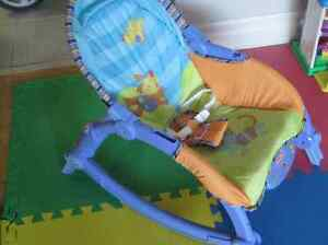 Fisher-Price Infant Bouncer/Toddler Rocker (with a toy bar) Oakville / Halton Region Toronto (GTA) image 2