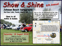 Show and Shine - Saturday, 18 August 2018