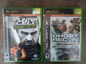 Xbox games Star wars Splinter Cell Ghost Recon