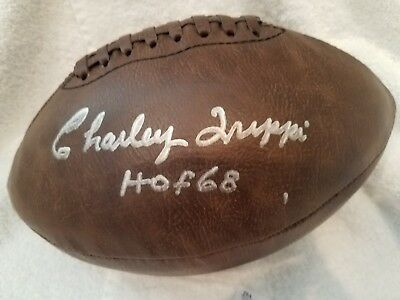 CHARLEY TRIPPI AUTO SIGNED CHICAGO CARDINALS GEORGIA BULLDOGS FOOTBALL JSA
