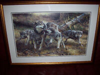 BEAUTIFUL WOLVES ART PRINT CARL BRENDERS WOLF LIMITED EDITION