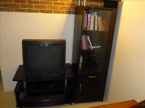 TV Stand with Glass Cabinet (in   Hawkesbury)