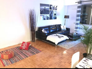 1 bedroom heart of downtown furnished
