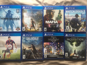 Trading PS4 games.