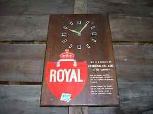 Old ROYAL INS. CLOCK