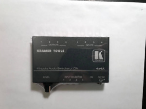 Kramer 4x1:4 Stereo Audio Switcher Distributor - Never Used