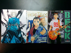 lot de 3 mangas pour 7$ Beck #1 Hero Tales #1 Pandora Hearts #14