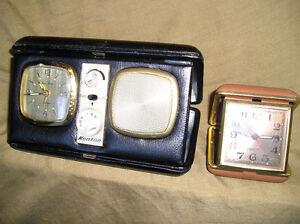 vintage Travel Alarm Clocks