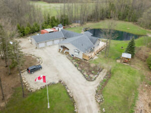 Custom Built - 2455 Sq. Ft. Bungalow on 4 Acres in Durham