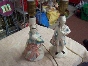 BONE CHINA ? FIGURINE TABLE LAMPS