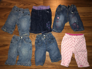 Girls Size 0-3 Pants