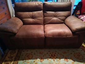 2 seater Bourbon recliner sofa by Harveys