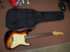 ELECTRIC GUITAR WITH CASE KIMAXE