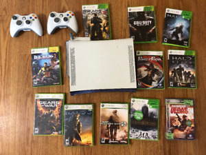 Xbox 360, games and wifi adapter