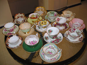 Tea cups. shelly, royal albert, queen anne, paragon, aynsley