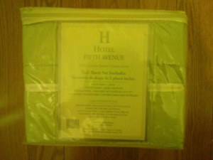 Hotel Fifth Avenue Full-Size Bedsheets