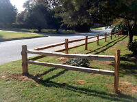 K BARNES CARPENTRY - SPLIT CEDAR FENCING