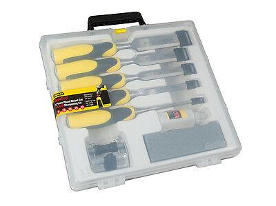 Stanley Tools 516421 Dynagrip Chisel + Strike Cap Set of 5 + Access