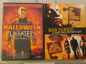 Rob Zombie Halloween, Devil s Rejects, 1000 Corpses DVDs