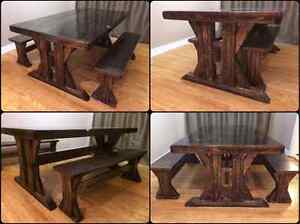 CUSTOM SOLID WOOD RUSTIC DINING TABLES, BENCHES AND MORE Kingston Kingston Area image 7