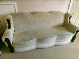 3 Cream Bed Settee
