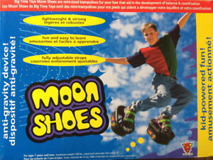 Moon Shoes!  Mini Trampolines for your feet!