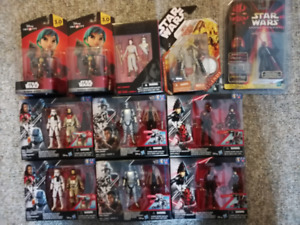 STAR WARS LOT FIGURINES REY, DARTH MAUL,PHASMA, BATTLE DROIDS...