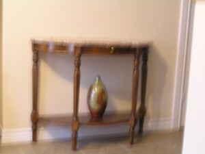 Table for behind couch,against wall, or end table.Granite top.