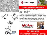 Comic Drawing Workshop, Canadore College, Parry Sound