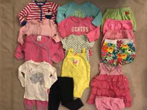6-9 months baby girl spring/summer clothes: 21 pieces