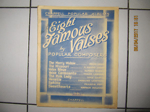 Vintage Chappell Popular Albums Eight Famous Valses Circa 1907