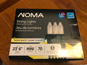 (NEW) Noma Indoor/Outdoor Christmas Lights Warm White