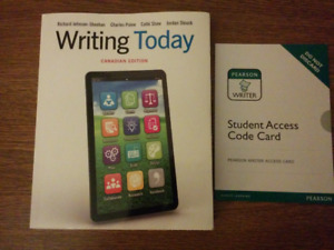 Writing Today Canadian Edition 2015 textbook w/access code