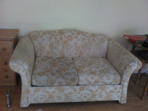 Loveseat sofa bed with brand new mattress, AND……