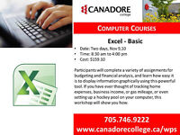 Canadore College, Parry Sound  - Excel - Basic