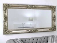"""BEAUTIFUL """"ELLA"""" CHAMPAGNE 7FT MIRROR - FREE DELIVERY - RRP £299"""